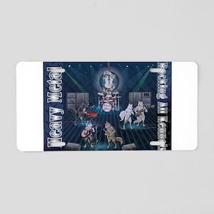Heavy Metal Aluminum License Plate