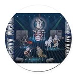 Heavy Metal Round Car Magnet