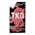Taekwondo Dragon Beach Towel