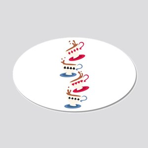 Card Game Cup 20x12 Oval Wall Decal