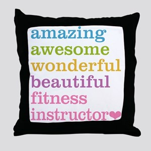 Fitness Instructor Throw Pillow