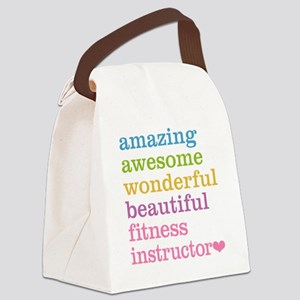 Fitness Instructor Canvas Lunch Bag