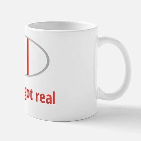 Sh!t just got real Mug