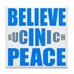 Believe in Peace Tile Coaster