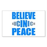 Believe in Peace Rectangle Sticker