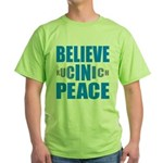 Believe in Peace Green T-Shirt