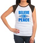 Believe in Peace Women's Cap Sleeve T-Shirt