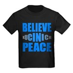 Believe in Peace Kids Dark T-Shirt