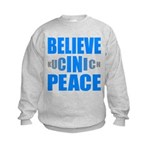 Believe in Peace Kids Sweatshirt
