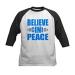 Believe in Peace Kids Baseball Jersey