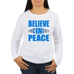 Believe in Peace Women's Long Sleeve T-Shirt