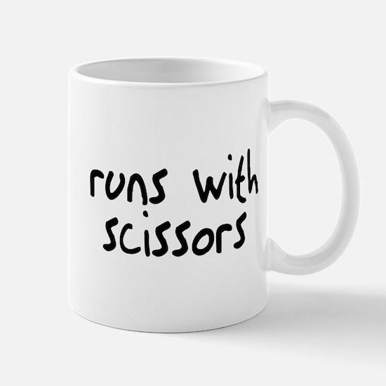 Runs Scissors Mug