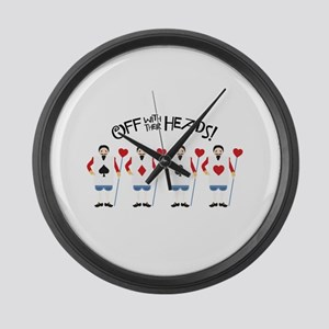 Off with Their Heads Large Wall Clock