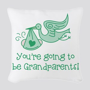 Going to be Grandparents Woven Throw Pillow