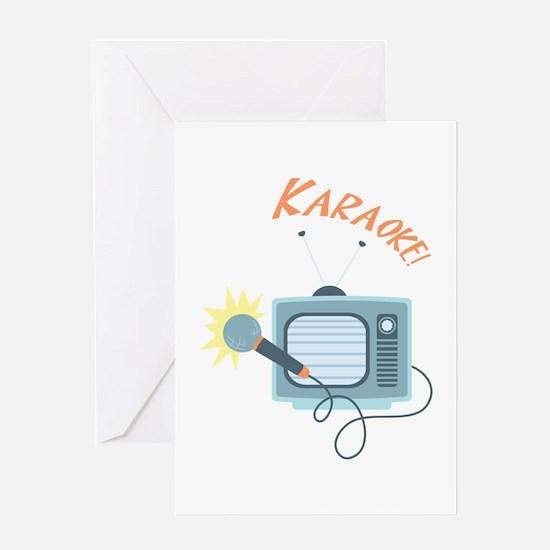Karaoke TV Greeting Cards