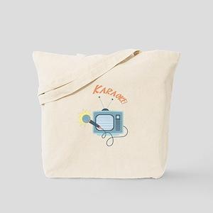 Karaoke TV Tote Bag