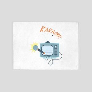 Karaoke TV 5'x7'Area Rug