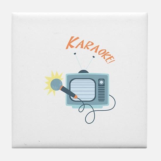 Karaoke TV Tile Coaster