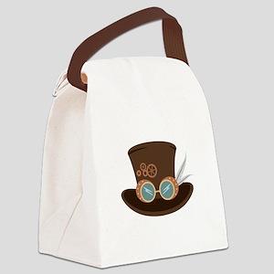 Steampunk Hat Canvas Lunch Bag