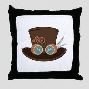 Steampunk Hat Throw Pillow
