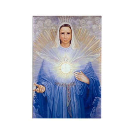New Mary of the Holy Spirit Rectangle Magnet (100