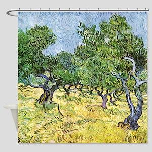 Van Gogh Olive Grove Shower Curtain