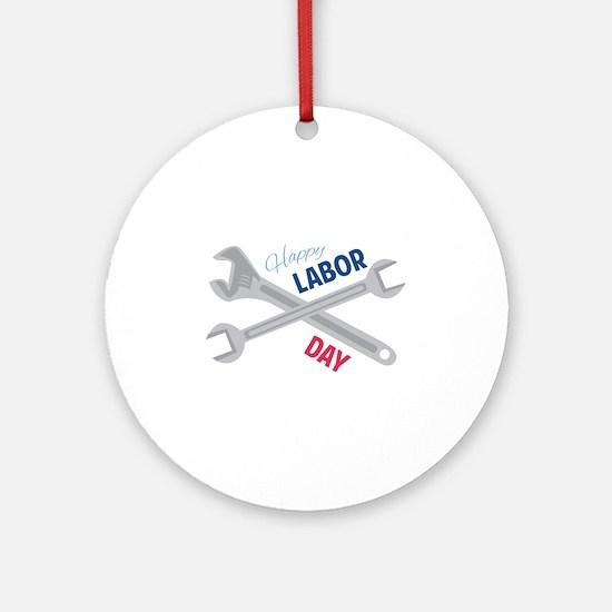 Happy Labor Day Ornament (Round)