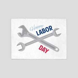 Happy Labor Day 5'x7'Area Rug