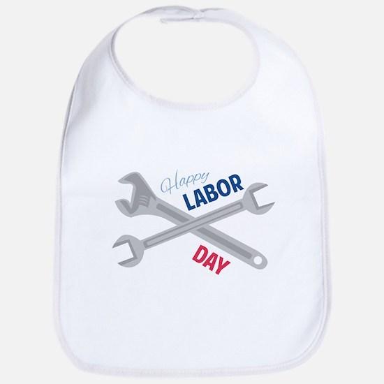 Happy Labor Day Bib
