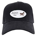 Christmas Pony Black Cap