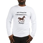 Christmas Pony Long Sleeve T-Shirt