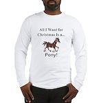 Christmas Pony Long Sleeve T-Shirt