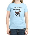Christmas Pony Women's Light T-Shirt