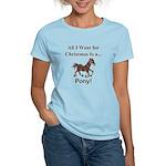 Christmas Pony Women's Light T-Shirt