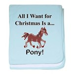 Christmas Pony baby blanket