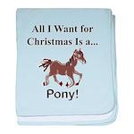 Christmas Pony baby blanket