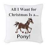 Christmas Pony Woven Throw Pillow