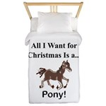 Christmas Pony Twin Duvet