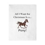 Christmas Pony Twin Duvet