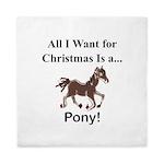 Christmas Pony Queen Duvet