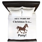 Christmas Pony King Duvet