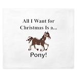 Christmas Pony King Duvet