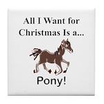 Christmas Pony Tile Coaster