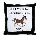 Christmas Pony Throw Pillow