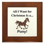 Christmas Pony Framed Tile