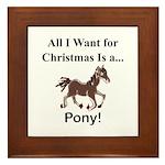 Christmas Pony Framed Tile