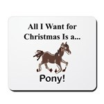 Christmas Pony Mousepad