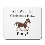 Christmas Pony Mousepad