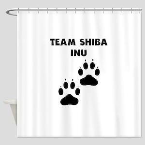 Team Shiba Inu Shower Curtain