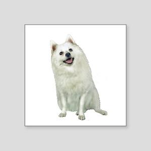 "Japanese Spitz (A) Square Sticker 3"" x 3"""